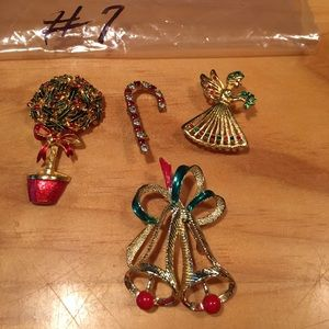 Christmas brooches